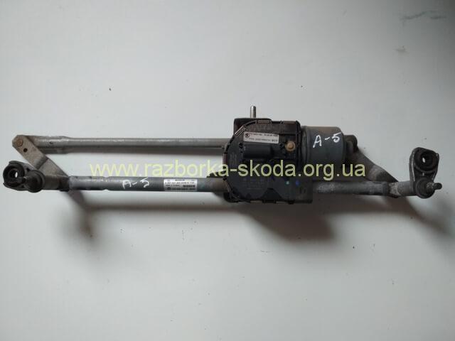 1Z1955119C Моторчик стеклоочистителя передний б/у Skoda Octavi A5