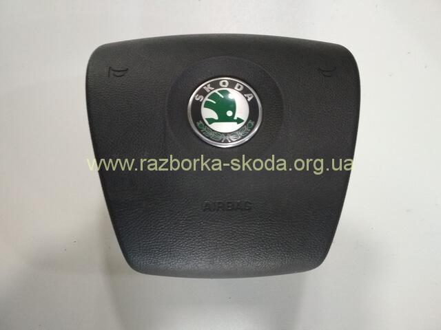 1Z0880201AM Подушка безопасности водителя Air-Bag б/у Шкода Октавия А5