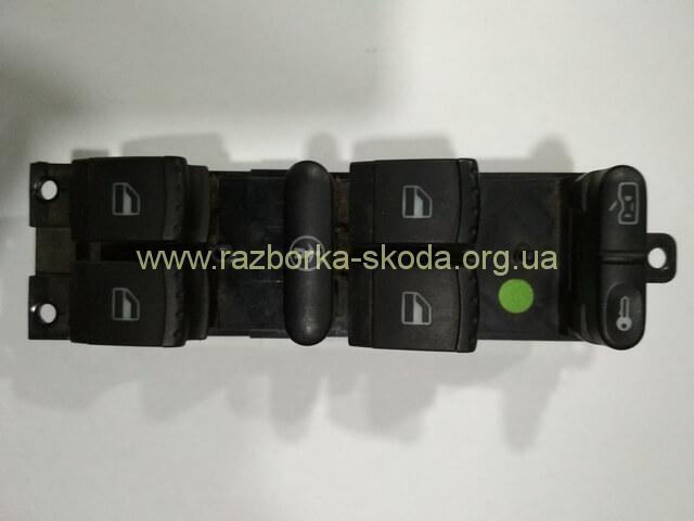 1J4959857A Блок управления стеклоподъемниками и центрального замка б/у Шкода Октавия Тур